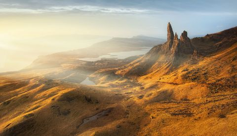 Scotland mountains old man of storr