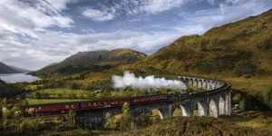 scotland train mountains