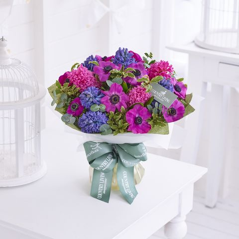 The country living interflora bouquet collection spring country living springtime anemones hand tied mightylinksfo
