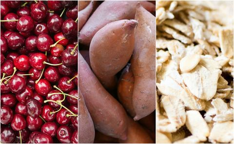 cherries oats potato food