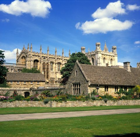 Architecture in Oxford, University of Oxford, on a summer's day