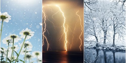Weather types collage