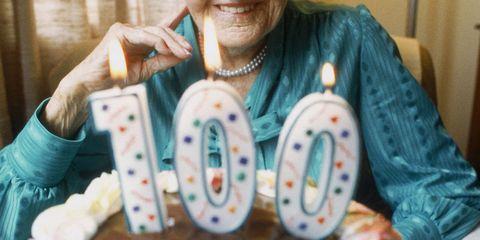 100 old lady birthday