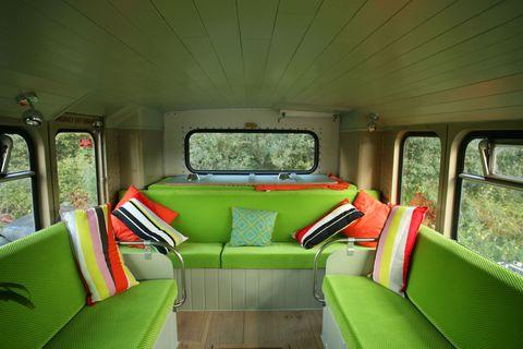 Big Green Bus Sofa, Canopy & Stars