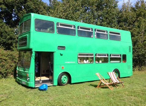 Big Green Bus Exterior, Canopy & Stars