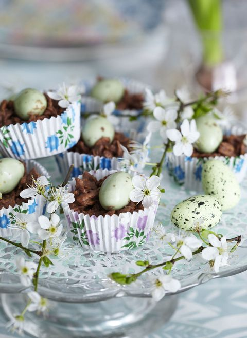 baked chocolate nests