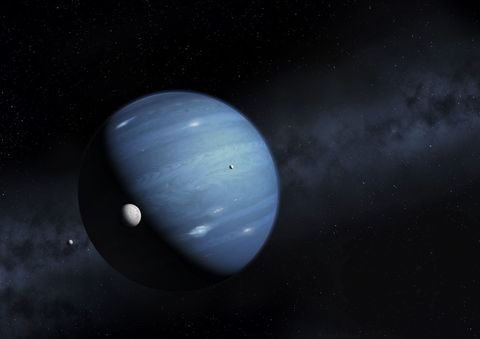 Large planet in space
