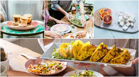 Summer food trends collage