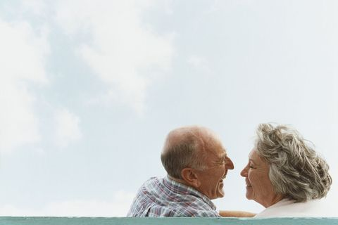 old couple happy old age