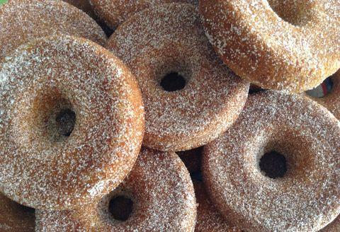 Doughnuts covered in sugar