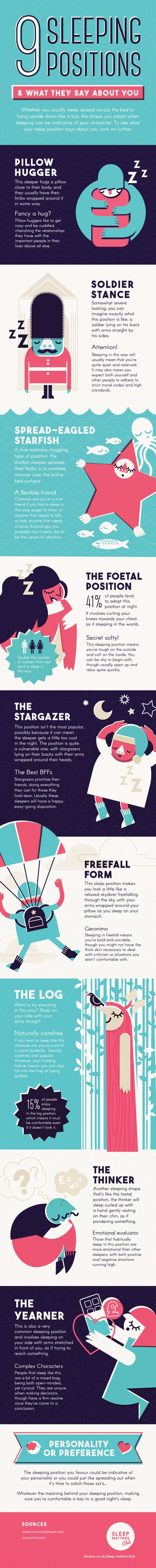 9 sleeping positions and what they say about your personality