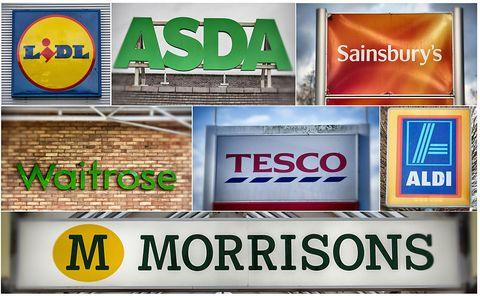 UK supermarkets: Lidl, Waitrose, Morrisons, Aldi, Sainsbury's, Tesco, Asda