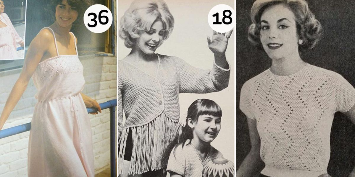 Hobbycraft is bringing back vintage knitwear patterns from the 1940s-1980s