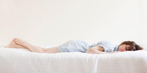 White, Skin, Leg, Beauty, Shoulder, Joint, Comfort, Furniture, Bed, Arm,