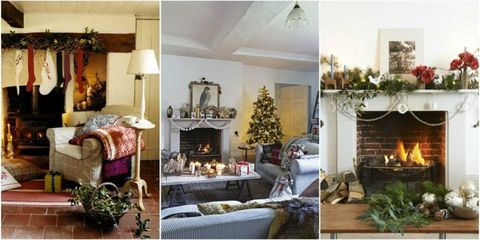 christmas fireplace create festive christmas fireplace decor - How To Decorate A Fireplace For Christmas