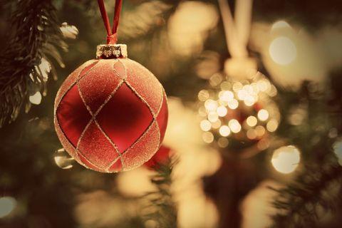 Christmas ornament, Christmas, Christmas decoration, Red, Tree, Ornament, Christmas eve, Branch, Christmas tree, Interior design,