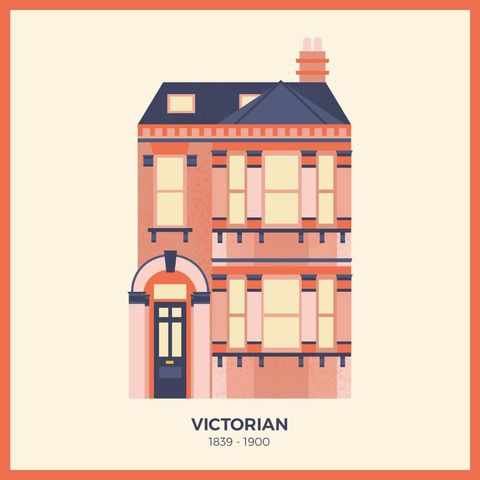 13 beautiful illustrations depicting the different types - Types of victorian homes ...