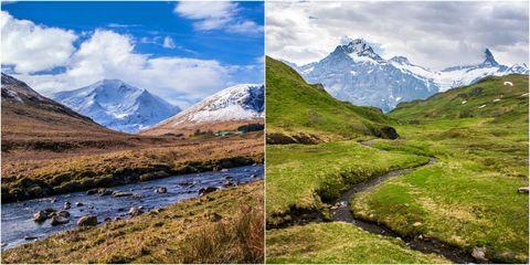 Scotland and Norway