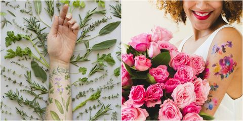 Tattly - scented flower tattoos