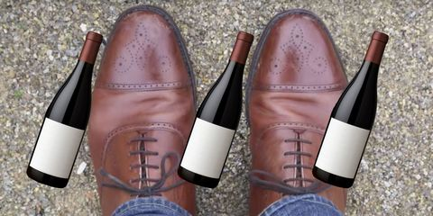 wine shoes