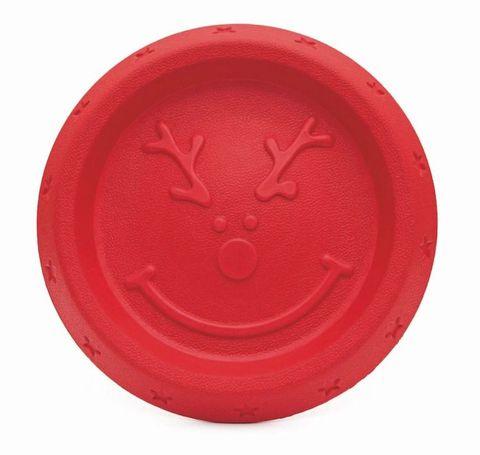 Reindeer Durafoam Frisbee - dog toy gift - Dogs Trust