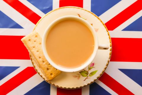 union jack and cup of tea