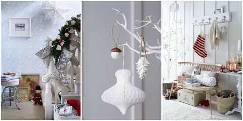decorating with white at christmas