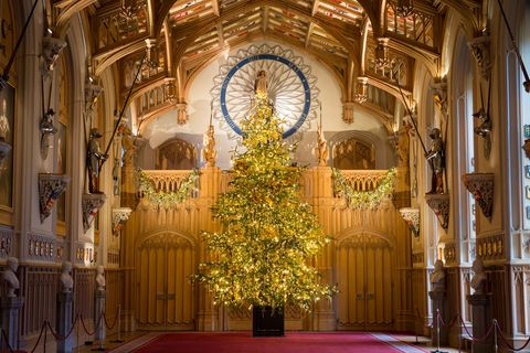 Christmas tree at Windsor Castle