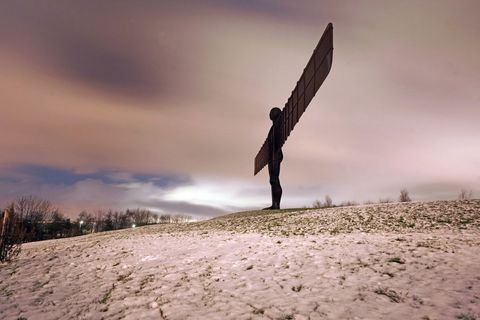 Angel of the North - snow