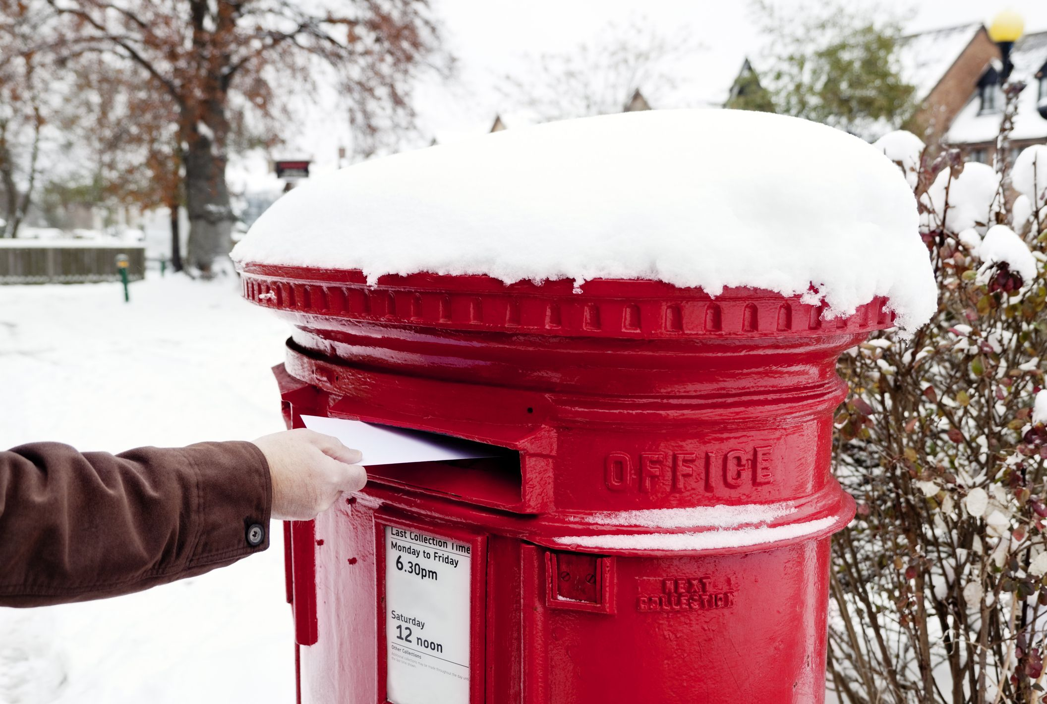 The Royal Mail has released the Christmas last posting dates