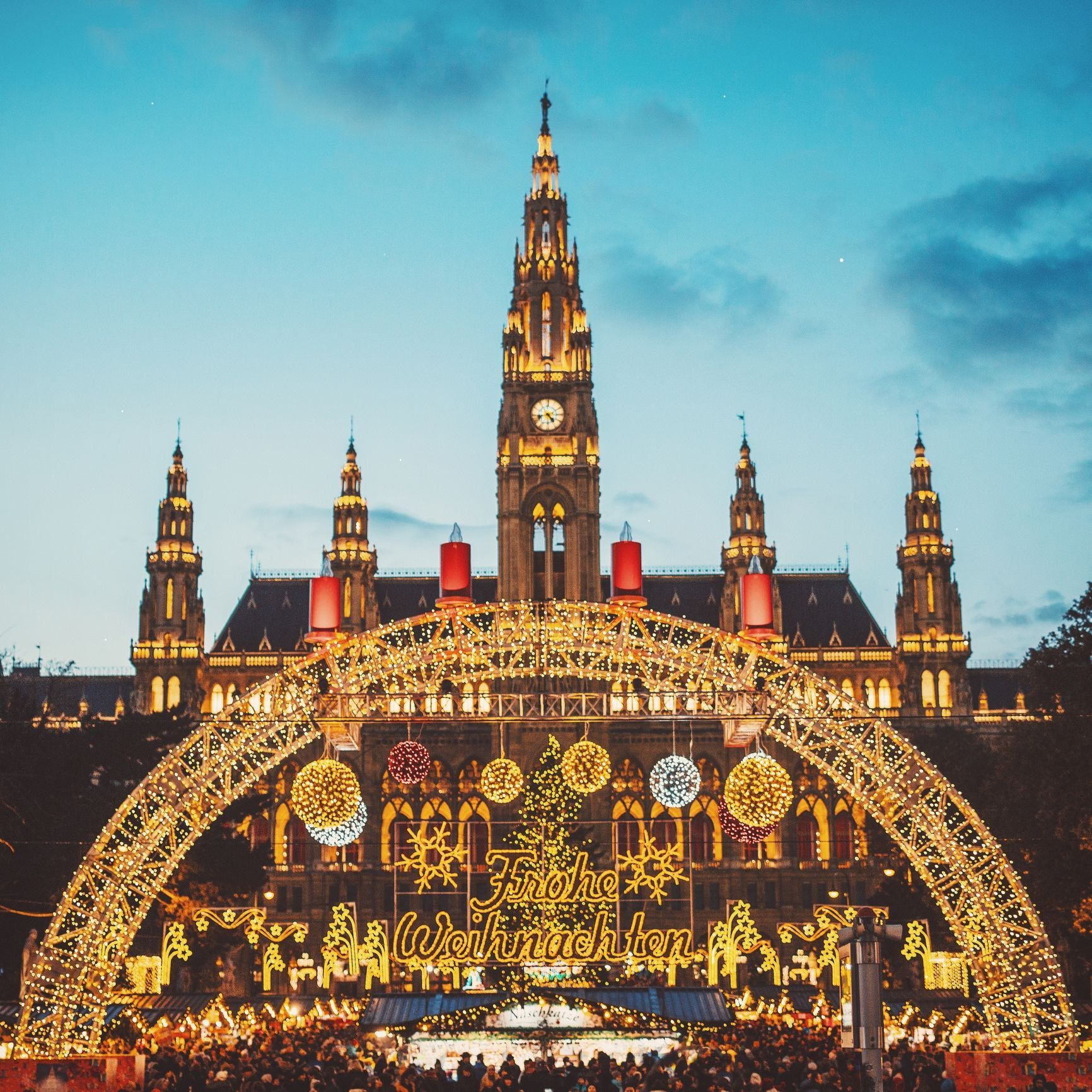 "<p>The Christmas market in Austria's capital <a href=""https://www.austria.info/uk/things-to-do/skiing-and-winter/christmas-markets/christmas-markets-in-vienna"" data-href=""https://www.austria.info/uk/things-to-do/skiing-and-winter/christmas-markets/christmas-markets-in-vienna"" target=""_blank"">dates back to 1298</a>. There are now 20 official Advent markets with the most iconic, the Viennese Christmas market, featuring 154 stalls and being situated in front of the City Hall. This year, the market opened on 17th November and is staying put until Boxing Day.</p><p>Flights to Vienna from London Luton airport start from around £112 in the weekdays of December and both hostels and apartments can be super cheap. For hostels, there is the Wombats City Hostel, which costs from £16 for a dorm bed and from £19 for a private room, according to <a href=""https://www.hostelworld.com/hosteldetails.php/Wombats-City-Hostel-Vienna-at-the-Naschmarkt/Vienna/45674?dateFrom=2017-12-01&amp&#x3B;dateTo=2017-12-04&amp&#x3B;number_of_guests=2&amp&#x3B;sc_pos=2"" data-href=""https://www.hostelworld.com/hosteldetails.php/Wombats-City-Hostel-Vienna-at-the-Naschmarkt/Vienna/45674?dateFrom=2017-12-01&amp&#x3B;dateTo=2017-12-04&amp&#x3B;number_of_guests=2&amp&#x3B;sc_pos=2"" target=""_blank"">Hostel World</a>. For apartments, <a href=""https://www.airbnb.co.uk/rooms/2605925?wl_source=list&amp&#x3B;wl_id=249567357&amp&#x3B;role=wishlist_public&amp&#x3B;adults=1&amp&#x3B;children=0&amp&#x3B;infants=0"" data-href=""https://www.airbnb.co.uk/rooms/2605925?wl_source=list&amp&#x3B;wl_id=249567357&amp&#x3B;role=wishlist_public&amp&#x3B;adults=1&amp&#x3B;children=0&amp&#x3B;infants=0"" target=""_blank"">check out this one-bed Airbnb</a> for two people for £35 per night.</p>"
