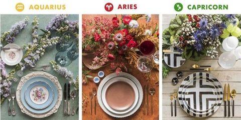 Flower, Plate, Dishware, Plant, Table, Tableware, Floral design, Circle, Flowerpot, Christmas decoration,
