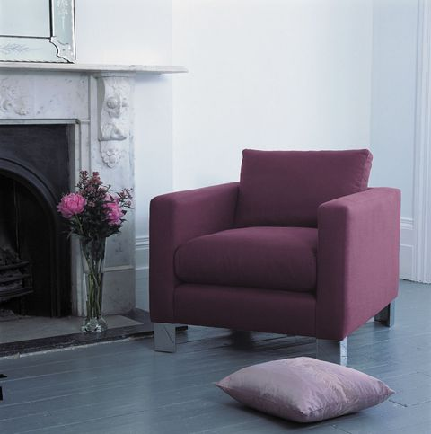 "<p>Add a classy and stylish purple&nbsp;one-seater chair to your living room, to&nbsp;incorporate the latest colour trend from Pantone. It's simple, understated and contrasts well with surrounding&nbsp;white interiors.&nbsp;</p><p><strong data-redactor-tag=""strong"" data-verified=""redactor"">BUY NOW:</strong> <a href=""https://www.sofaworkshop.com/sofas/chairs-chaises/sofa/aalto"" target=""_blank"" data-tracking-id=""recirc-text-link"">Aalto Chair in Luxury Grape, from £1,289,&nbsp;Sofa Workshop</a></p>"