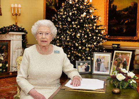 the queen at christmas - Royals Christmas Ornament
