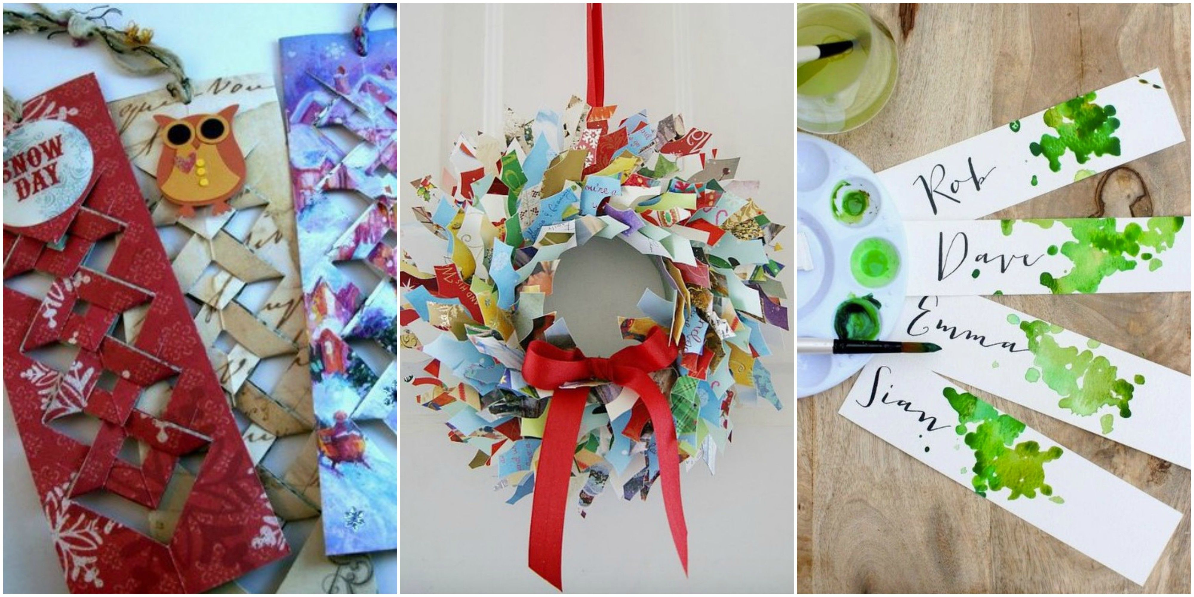 6 creative ideas for recycling Christmas cards