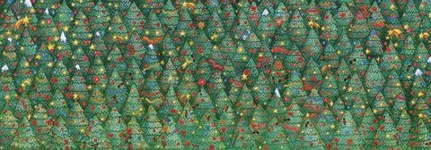 Bloom & Wild - Christmas Brainteaser - robin in Christmas trees