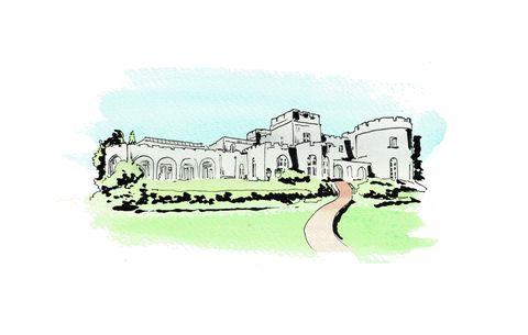 Green, Castle, Illustration, Sketch, Building, Art, Drawing, Clip art,