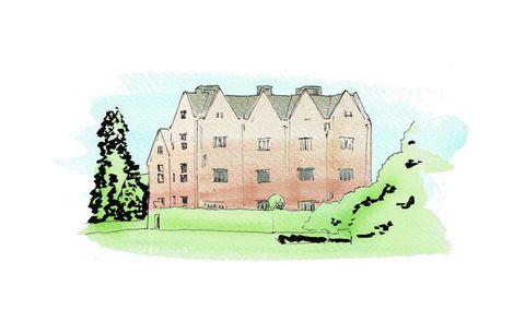 Building, Illustration, Castle, Sketch,