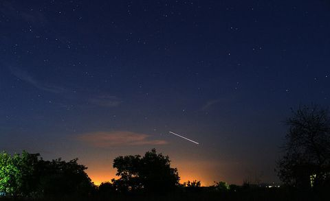 ISS passing through night sky - International Space Station