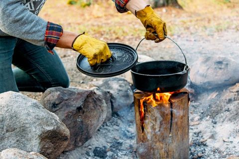 """Every camper needs to learn how to make a """"Swedish fire log"""""""
