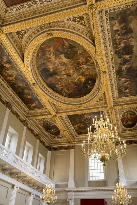 <p>Though no longer a residence per se, this opulent hall gives a glimpse at what the largest palace in Europe once looked like. The Banqueting House is the only remaining structure from the Palace of Whitehall, which served as the London residence of the English monarchs from the reign of King Henry VIII until it was destroyed in a fire in 1698. This grand hall was designed by the famed architect Inigo Jones and was used by the Stuart kings to host balls, receptions, and banquets. The gilded ceiling was painted by the artist Peter Paul Rubens and is hung with massive crystal chandeliers.</p>