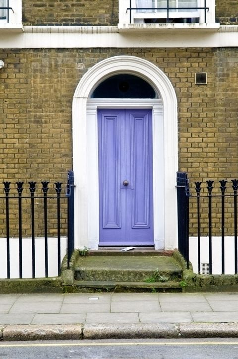 Light violet front door