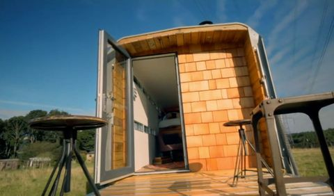 Cattle trailer magically transformed into a luxury camper by ...