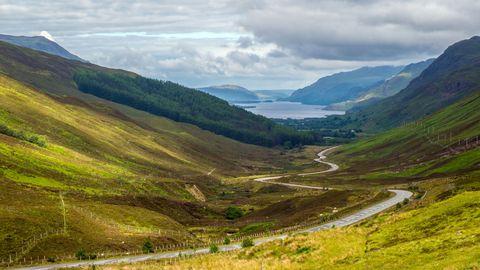 NC500 road Scotland