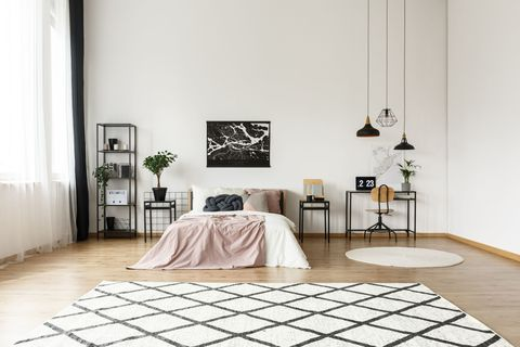 Black And White Moroccan Rugs Are This Season S Hottest Interior Design Trend Beni Ourain Rugs