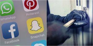 social media - burglary