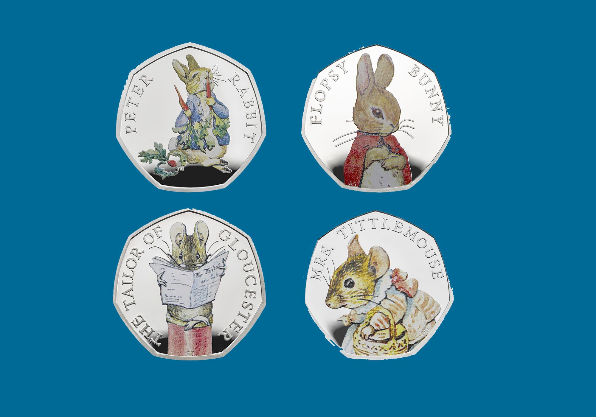 Royal Mint launches four new Beatrix Potter coins for 2018