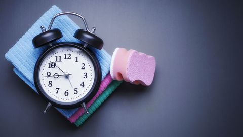 Cleaning products and clock