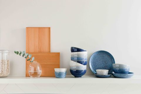 "<p>Blue hues can help a complex and busy world feel simpler as this colour ignites a sense of calm. Pair blue ceramics with warm woods and natural linen for a palette that is both effortless and classic. Stacks of Studio Blue bowls and plates, in four natural tones, are both calming and pleasing on the eye.</p><p><strong data-redactor-tag=""strong"">Pictured: <em data-redactor-tag=""em"">Denby Studio Blue Tableware, £18 - £50, John Lewis</em> <a href=""https://www.johnlewis.com/denby-studio-blue-tableware/p89051431"" class=""body-btn-link"" target=""_blank"">BUY NOW</a></strong><br></p>"