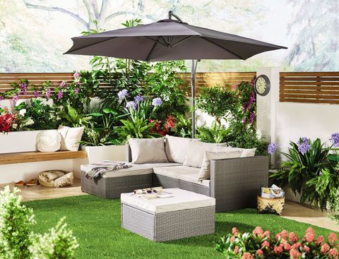 Corner Rattan Effect Sofa - Aldi Gardening Event Week